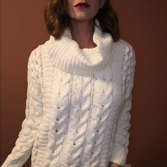 Express Sweaters - Express cable knit cowl neck sweater